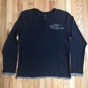 Armani Exchange long sleeve light fabric T-shirt